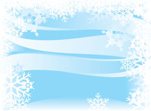 Winter abstract background. Vector winter abstract background with snowflakes Royalty Free Stock Image