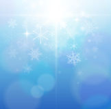 Winter abstract background. Beautiful winter abstract background blue Stock Photo