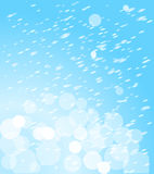 Winter abstract background. Blurred backgrounds for your projects. Winter abstract background with hints of color. winter background with snowflakes royalty free illustration