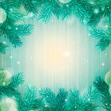 Winter abstract background. Christmas background. With snowflakes, vector illustration Stock Image