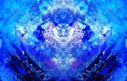 Winter abstract background, computer collage. Blue and white color. Royalty Free Stock Photography