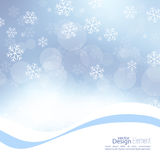 Winter abstract background. Gentle soft winter abstract background with falling scatter snowflakes, ice crystals and sparkles, glint, twinkle. Elegant blurry vector illustration