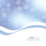 Winter abstract background. Gentle soft winter abstract background with falling scatter snowflakes, ice crystals and sparkles, glint, twinkle. Elegant blurry stock illustration