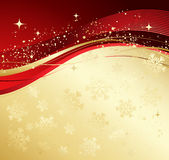 Winter abstract background. Gold and red winter abstract background. Christmas background with snowflakes. Vector Royalty Free Stock Image