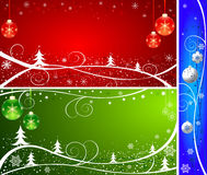 Winter abstract background set Stock Illustration