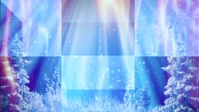 Winter abstract background with snow and moving waving textures 02. A winter abstract animated background, with snow fall and moving textures on a blue stock illustration