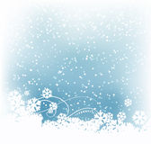 Winter abstract background. With snowflakes Royalty Free Stock Images
