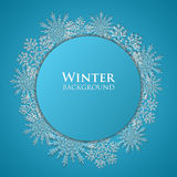 Winter abstract background- vector. Winter abstract background with snowflakes- vector Royalty Free Stock Images