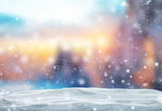 Winter Abstract Background With Snow Pile Stock Photos