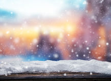 Winter Abstract Background With Wooden Planks Royalty Free Stock Photography