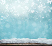 Winter abstract background with wooden planks Stock Image