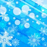 Winter abstract blue background Royalty Free Stock Photography