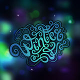 Winter abstract hand lettering Royalty Free Stock Image