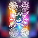 Winter abstract lace from snowflakes. Stock Images