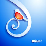 Winter abstract paper background Stock Images