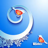 Winter abstract paper background Stock Photos