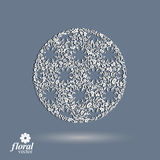 Winter abstract round object with beautiful snowflakes – weath Royalty Free Stock Images