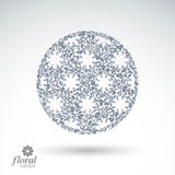 Winter abstract round object with beautiful snowflakes, weather Royalty Free Stock Photos