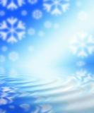 Winter Abstract Theme. Large digital made holiday background royalty free illustration