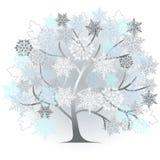 Winter - abstract tree. 2d vector Royalty Free Stock Photos