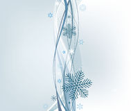 Winter abstract vector background. Stock Photos