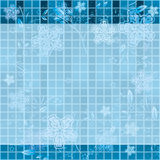 Winter abstraction. Vector blue background Stock Image