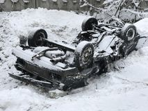 Winter accident Stock Photo