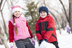 Winter active games Stock Images