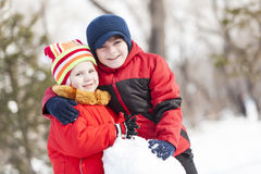 Winter active games Royalty Free Stock Photos
