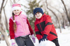 Winter active games Royalty Free Stock Photography