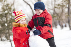 Winter active games Stock Image