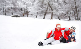 Winter activities Stock Photography
