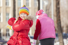 Winter activities Stock Photos