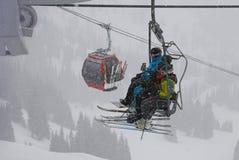 Winter activities. Crystal Mountain Ski Resort - January, 25 2013. Stock Photos