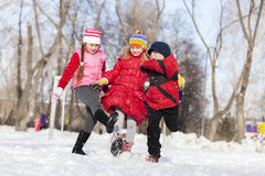 Winter activities Royalty Free Stock Photo