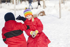 Winter activities Royalty Free Stock Photography