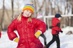 Winter activity Royalty Free Stock Image