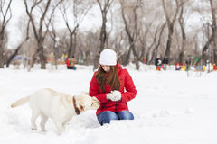 Winter activity Stock Photo