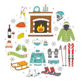 Winter activity icons Royalty Free Stock Photos