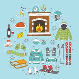 Winter activity icons Royalty Free Stock Photo