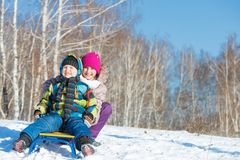 Winter activity Stock Photo