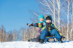 Winter activity royalty free stock photo