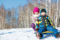 Winter activity Stock Images