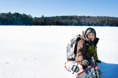 Winter adventure Stock Image