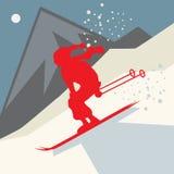 Winter adventure background Stock Photography