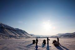 Winter Adventure Landscape Stock Photos