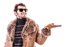 Winter advertising Stock Images
