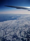 Winter Aerial; Airplane Royalty Free Stock Photos