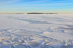 Winter afternoon landscape Stock Photography