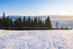 Winter afternoon landscape of Tatra Mountains Stock Photo